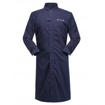 雷克兰Lakeland HRC 3级 26Cal/cm2 防电弧大袍,深蓝,XL(DH经济面料)