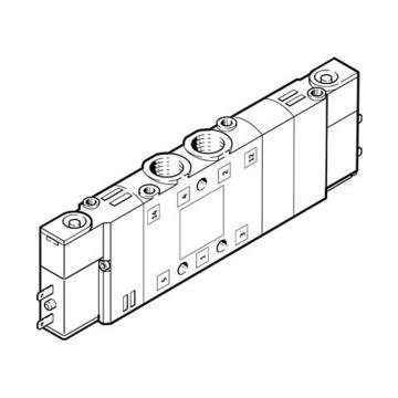 费斯托FESTO 三位五通单电控电磁阀,常闭,中位阀,不含线圈,CPE14-M1BH-5/3G-1/8,196937