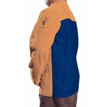 威特仕 44-2530L雄蜂王上身焊服, 背配防火阻燃布