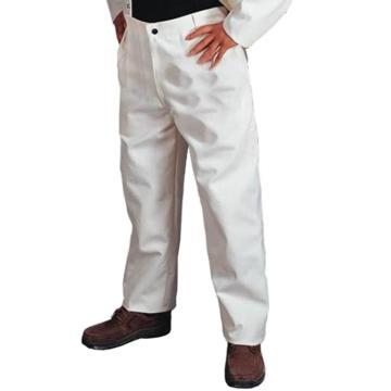 威特仕 焊接工作裤,33-9500-XL,白色帆布工作裤