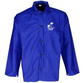 威特仕 焊接防護服,33-6830-XL,火狐貍藍色上身焊服