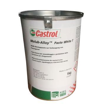 嘉实多 薄膜润滑脂,CASTROL  Molub-Alloy Paste White T,1kg/桶