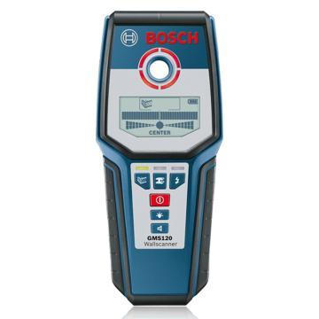 博世/BOSCH 墙体探测仪,GMS120,最大测量深度120毫米,可探测金属、带电和不带电的电线、电缆,产品编号:0601081000
