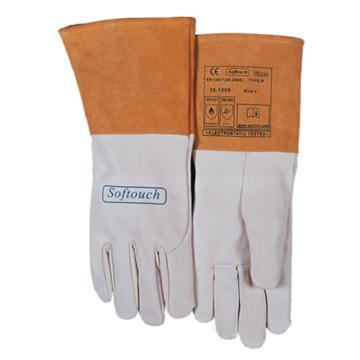 威特仕 10-1009XL焊接手套,白色羊青皮长袖筒款