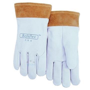 威特仕 10-1008-L焊接手套,白色羊青皮短袖筒款