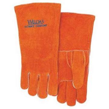 威特仕 焊接手套,10-0392-L,锈橙色常规电焊手套
