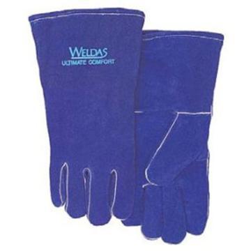 威特仕 彩蓝色常规电焊手套,10-0160-L