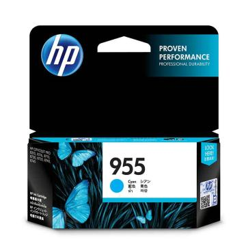惠普(HP) 原装青色墨盒,L0S51AA 955 (适用HP 8210 8710 8720 8730) 单位:个
