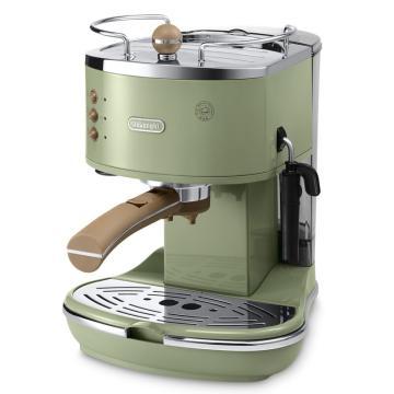德龍Icona復古系列泵壓式咖啡機,橄欖綠 ECO310.VGR,單位:臺