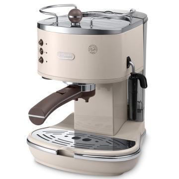 德龍Icona復古系列泵壓式咖啡機,甜蜜奶油色 ECO310.VBG,單位:臺