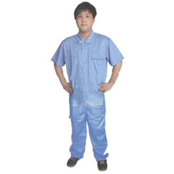 工作服,CVC纱卡夏季工作服,浅蓝,尺码:160