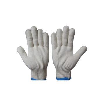 西域推荐 纱线手套,蓝边毛纺纱手套