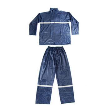 代尔塔DELTAPLUS 分体式雨衣,407004-XL,EN400RE 涤纶分体雨衣 藏青色