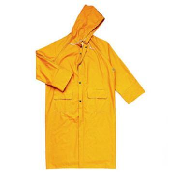 代尔塔DELTAPLUS 连体式雨衣,MA305 407005,涤纶风衣版连体雨衣,黄色,XXL
