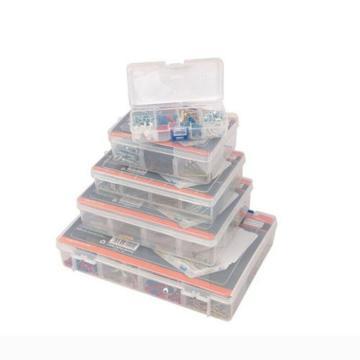 钢盾 塑料零件盒,5#300X200X62MM,S024015