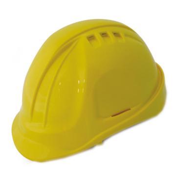 羿科 安全帽,60102802-Y,AT60 ABS透气型安全帽 黄色