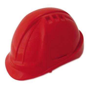 羿科 安全帽,60102802-R,AT60 ABS透气型安全帽 红色