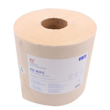 优克黄色三层擦拭纸,230x400mmx420张/卷 2卷/箱 单位:箱