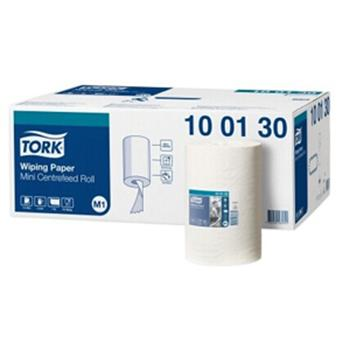 多康(TORK) 高級擦拭紙中心抽,白色 無刻線 100130,120米/卷 11卷/箱 單位:箱
