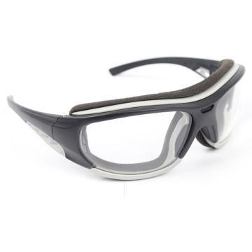 梅思安MSA 防护眼镜,10108311,欧特-CAF防护眼镜 (黑框 防雾防紫外线透明镜片)