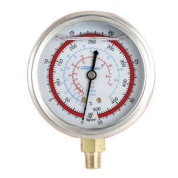 直立式充油高压表,格美,CM-500-G-O,R12、R22、R404A&R134A