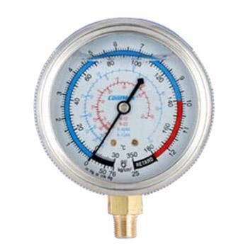 格美 直立式充油低压表,CM-350-G-O,R12、R22、R404A&R134A