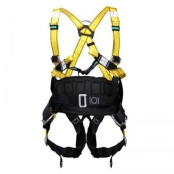 梅思安MSA 带护腰全身式安全带,10106899,沃克曼全能型全身式带护腰安全带 中号