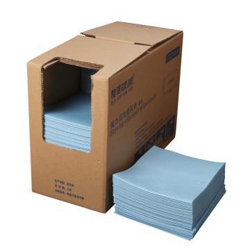 格洁强力高效擦拭布,721 068,折叠式 30cm×35cm×300张/盒 4盒/箱 蓝色 单位:箱
