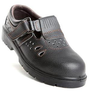 羿科 低帮黑色安全凉鞋,防砸防刺穿,44,EP303