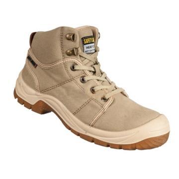 SAFETY JOGGER 中帮安全鞋,防砸防刺穿防静电,卡其色,41,Desert S1P