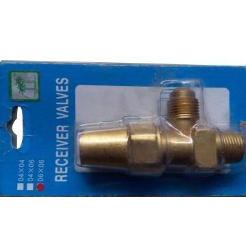 """排气阀,椰树,RV-04×04,喇叭口1/4""""SAE,管螺纹1/4"""""""
