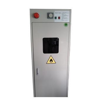 灰色气瓶柜单瓶,带报警尺寸600*450*1900mm,CLQ101(有色有味气体)