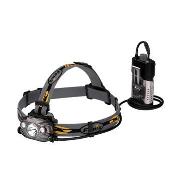 Fenix 菲尼克斯   HP30R黑色/灰色泛光聚光双光源 远射高亮可充电 户外LED头灯 含线夹、头灯后座、腰夹、USB充电线、防水圈、2*线扣、2*18650充电电池