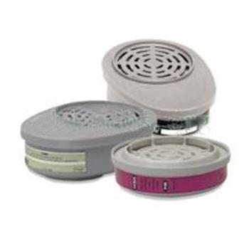 MSA 10120765 优越型面罩配套用滤片,2个/包,GMI(P100),防护有机蒸汽(有效防碘蒸汽)及粉尘