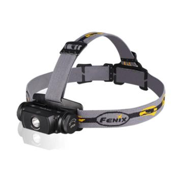 Fenix 菲尼克斯   HL55 XM-L2 T6黑色轻便小巧LED头灯 户外徒步登山骑行 900流明 含头灯侧带,头灯顶带,头灯后座,防水圈各1个(不含电池)