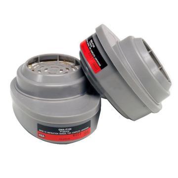 MSA 10120749优越型面罩配套用滤片,2个/包,GMB(P100),防护酸性气体和粉尘