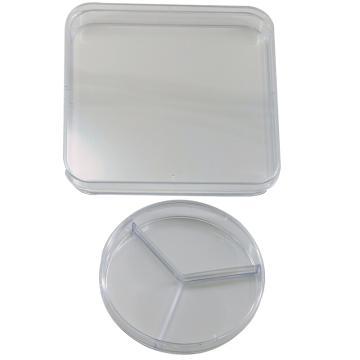 塑料培养皿,90×15mm,圆型,三分格,100个/包