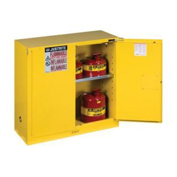 JUSTRITE/杰斯瑞特 黄色易燃液体存储柜,FM认证,30加仑/114升,双门/自动,8930201