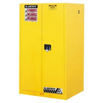 杰斯瑞特JUSTRITE 黄色易燃液体存储柜,FM认证,60加仑/227升,双门/手动,8960001
