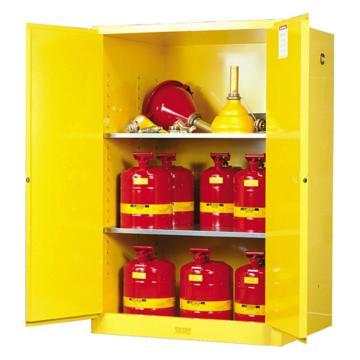 JUSTRITE/杰斯瑞特 黄色易燃液体存储柜,FM认证,90加仑/341升,双门/手动,8990001