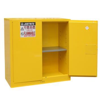 杰斯瑞特JUSTRITE 黄色易燃液体存储柜(不带通风口),FM认证,30加仑/114升,双门/手动,8530001
