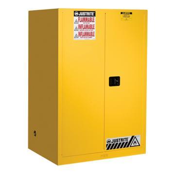 JUSTRITE/杰斯瑞特 黄色易燃液体存储柜,FM认证,90加仑/341升,双门/自动,8990201