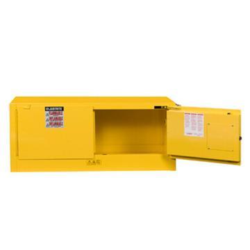 杰斯瑞特JUSTRITE 黄色易燃液体存储柜,FM认证,12加仑/45升,双门/自动,背负式,8913201