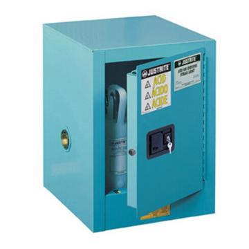 JUSTRITE/杰斯瑞特 蓝色弱腐蚀性液体存储柜,4加仑/15升,单门/手动,工作台式,8904021