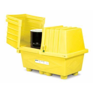 ENPAC 两桶装敞盖式盛漏箱,存放2个55加仑标准油桶,2038-YE