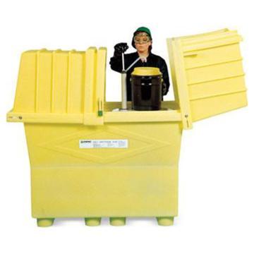ENPAC 加高型两桶装敞盖式盛漏箱,存放2个55加仑标准油桶,2077-YE