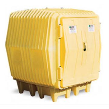 ENPAC 油桶存储屋,存放4个55加仑标准油桶,4000-YE
