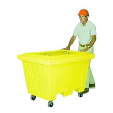 ENPAC 超大容量装载推车-带盖带4英寸聚氨酯橡胶轮,223加仑/844升,1530-YE