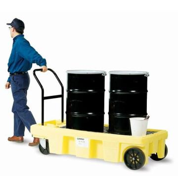 ENPAC 全路况型防泄漏油桶搬运车,57加仑/216升,5200-YE-A