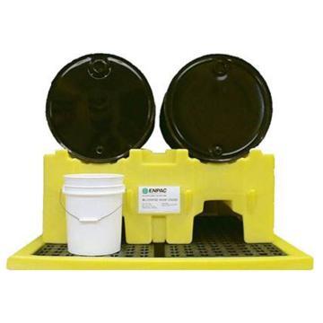 ENPAC 双桶平放油桶架,1230×1040×510mm,6004-YE